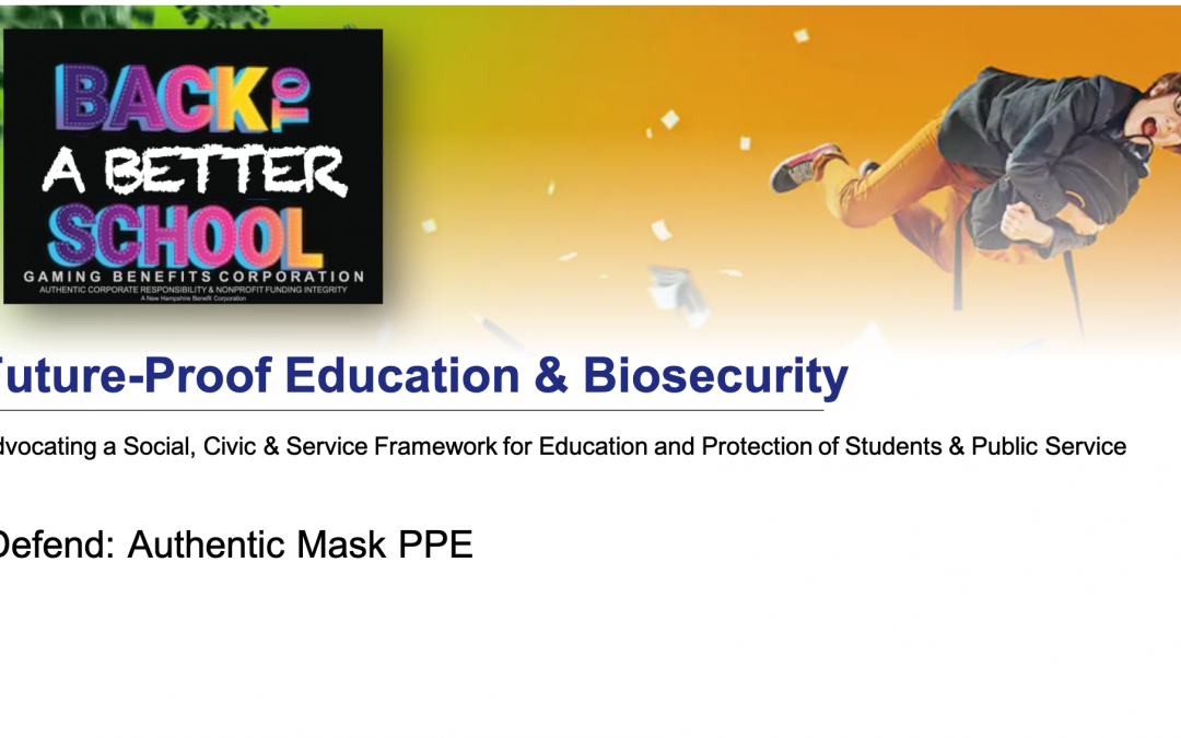 authentic PPE for students and teachers csr gaming benefits corp